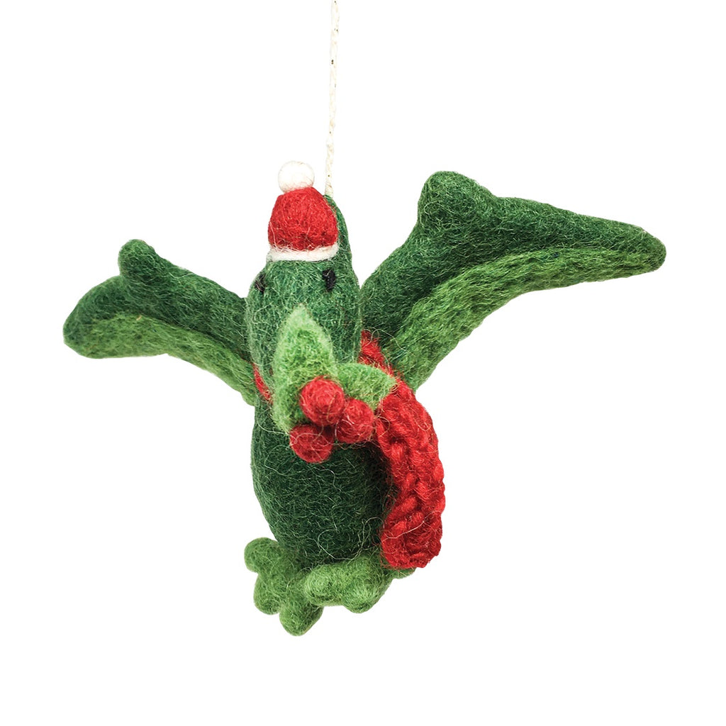 Felt Pterodactyl Christmas Tree Decoration