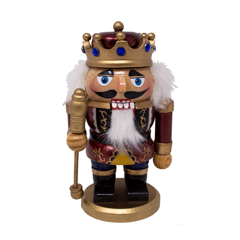 Red Dumpy German Nutcracker King 18cm