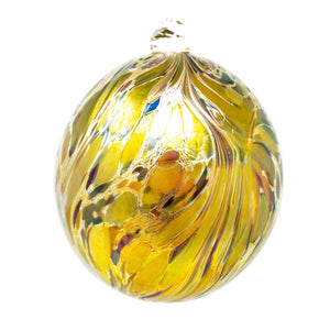 Isle of Wight Studio Glass - Northern Lights Gold Balthazar Christmas Bauble