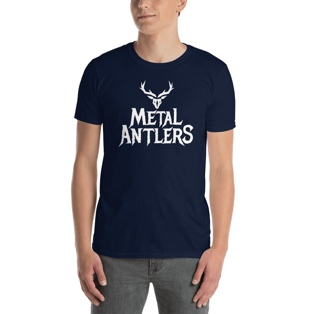 Metal Antlers T-Shirt (Elf Rock Band Merchandise)