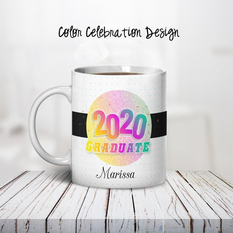 Color Celebration Personalized Coffee Cups