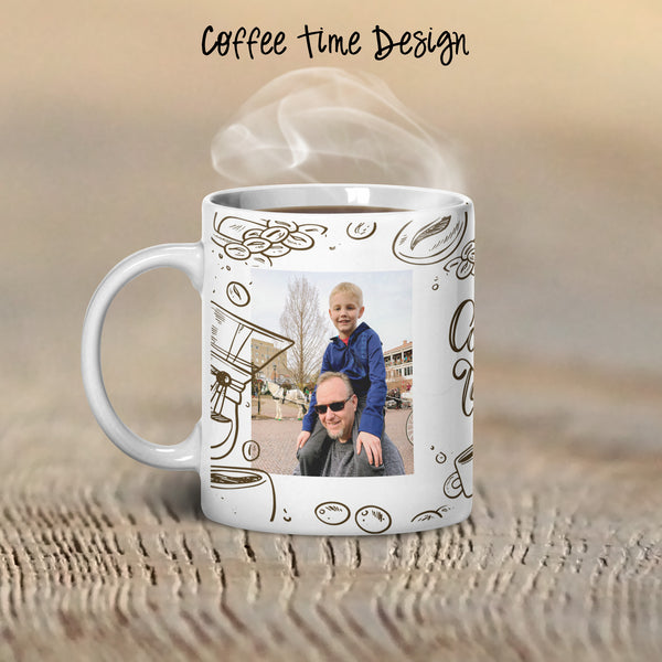 Coffee Time Personalized Coffee Cups with Photo