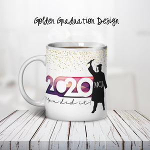 Golden Graduation Personalized Coffee Cups