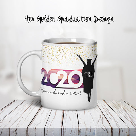 Her Graduation Personalized Coffee Cups