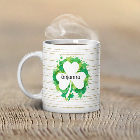 Irish Paint Personalized Coffee Cups