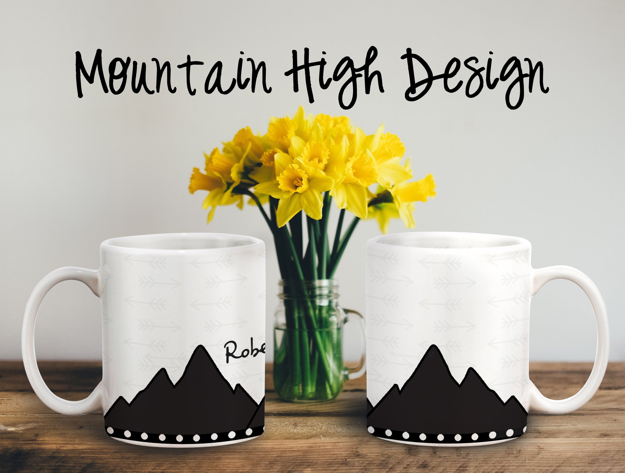 Mountain High Personalized Coffee Cups