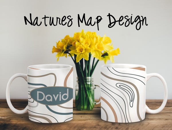 Natures Map Personalized Coffee Cups