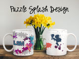 Puzzle Splash Personalized Coffee Cups