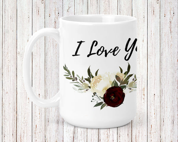 Sweet Roses Personalized Coffee Cups