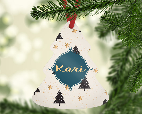 Personalized Metal Tree Ornaments