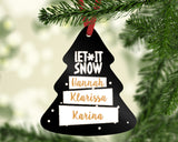 Personalized Metal Tree Ornament