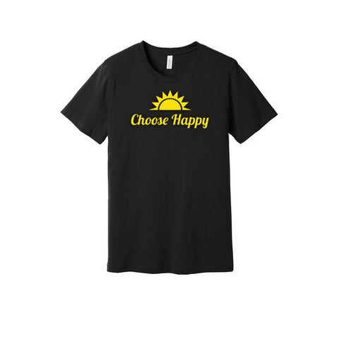 Choose Happy T-Shirt in Black