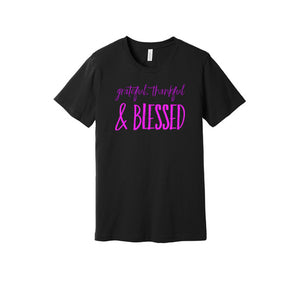 Grateful, Thankful and Blessed T-Shirt in Black