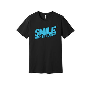 Smile and Be Happy T-Shirt in Black