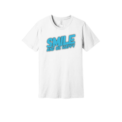 Smile and Be Happy T-Shirt in White