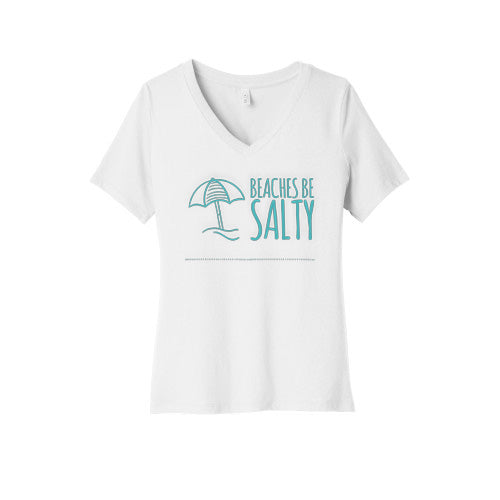 Beaches Be Salty V-Neck T-Shirt