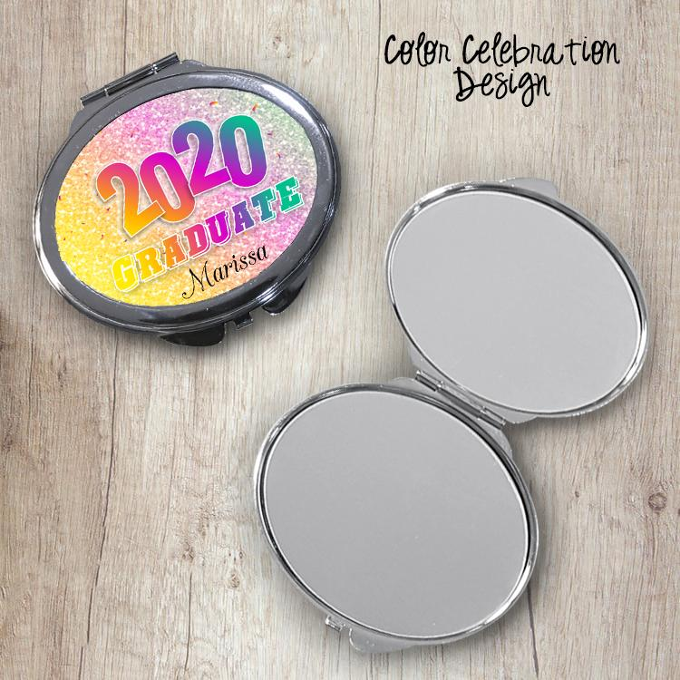 Color Celebration Oval Compact Mirror