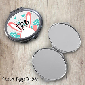 Easter Eggs Oval Compact Mirror