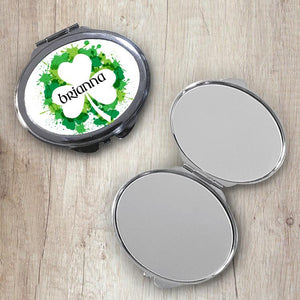 Irish Paint Oval Compact Mirror