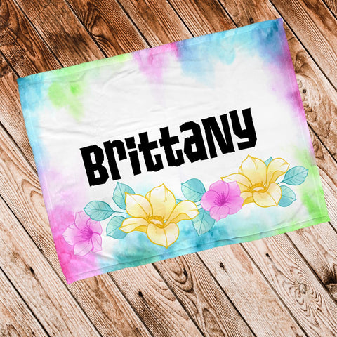 Watercolor Personalized Super Soft Blanket