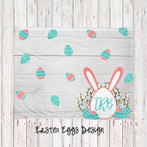 Easter Eggs Flower Bunny Personalized Super Soft Blanket