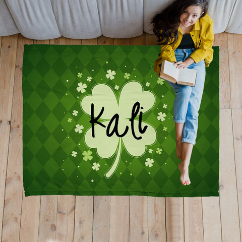 Lucky Clover Personalized Super Soft Blanket