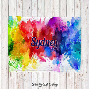 Color Splash Personalized Super Soft Blanket