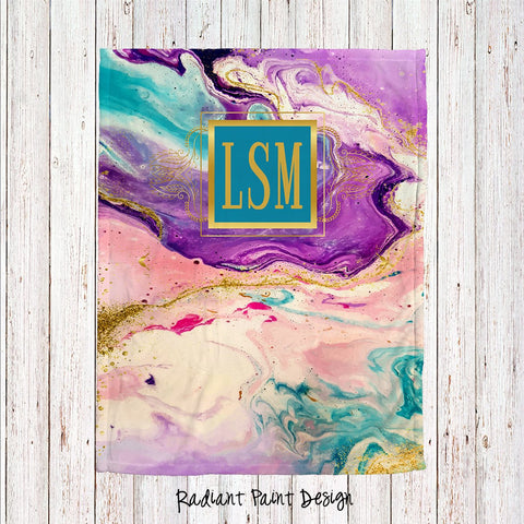 Radiant Paint Personalized Super Soft Blanket