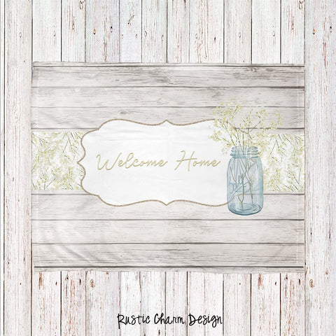 Rustic Charm Personalized Super Soft Blanket