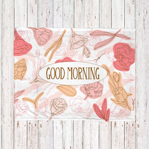 Pink Flowers Personalized Super Soft Blanket