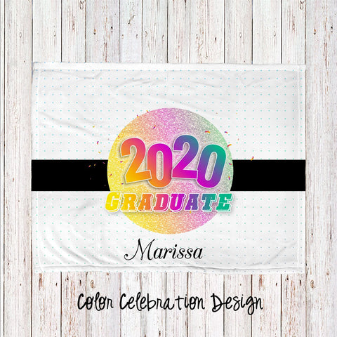 Color Celebration Personalized Super Soft Blanket