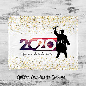 Golden Graduate Personalized Super Soft Blanket