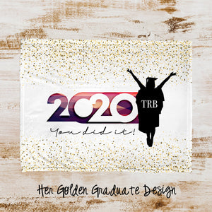 Her Golden Graduate Personalized Super Soft Blanket