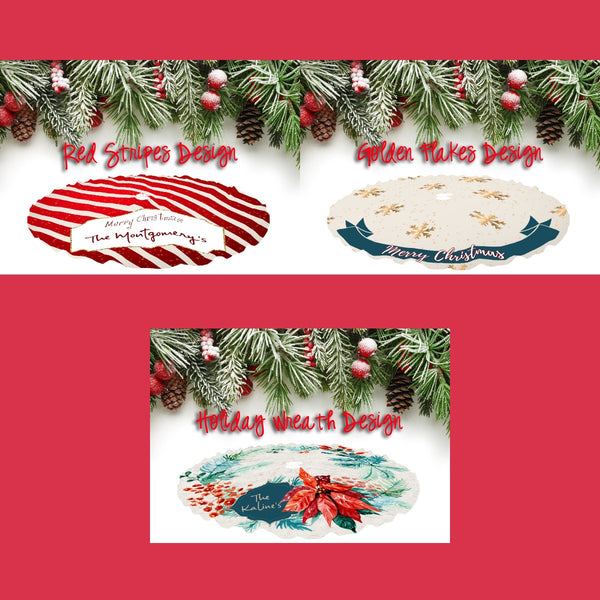 Personalized Holiday Tree Skirts