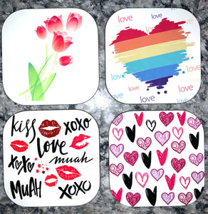 Coasters - Heart Themed