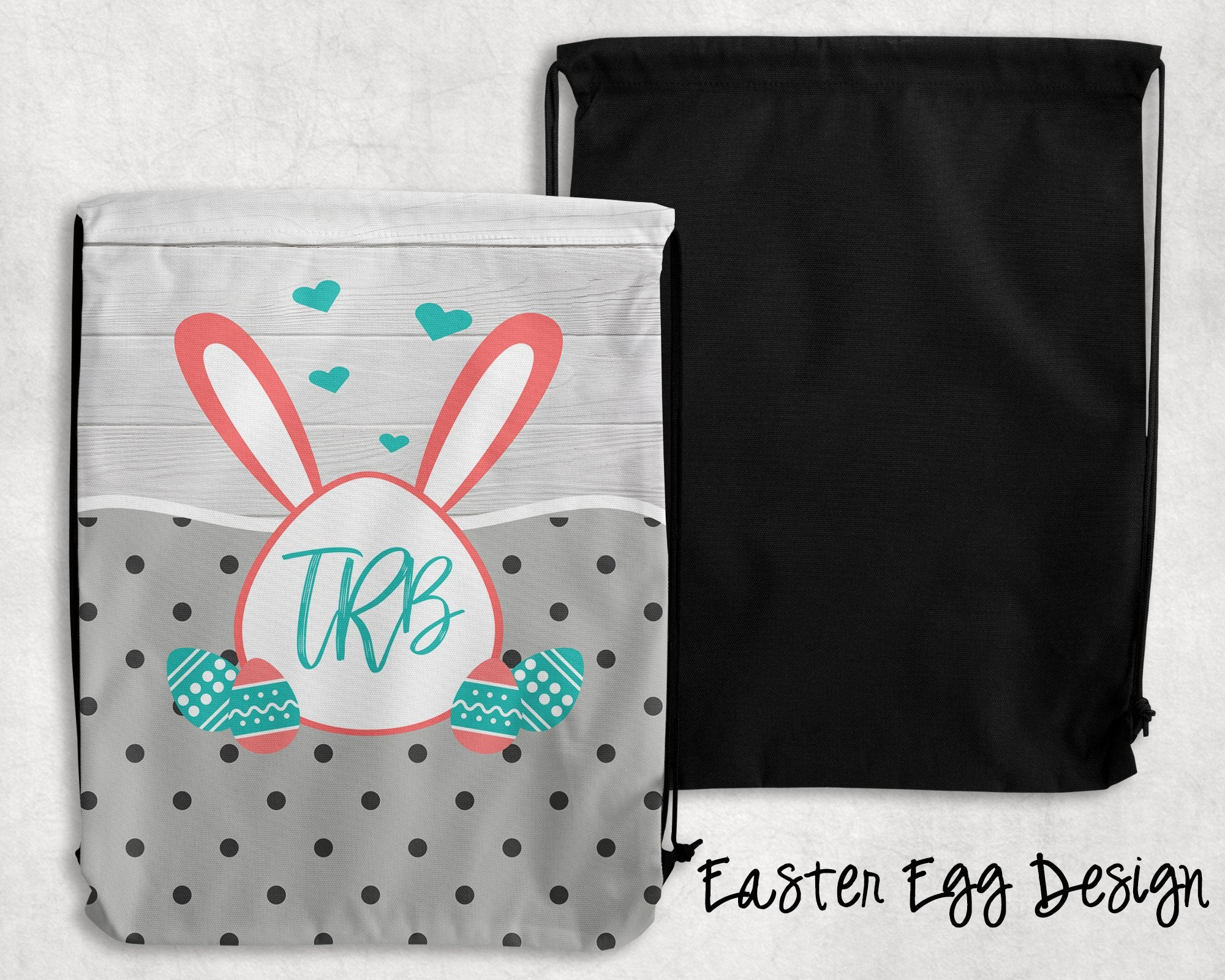 Easter Egg Personalized Drawstring Bags