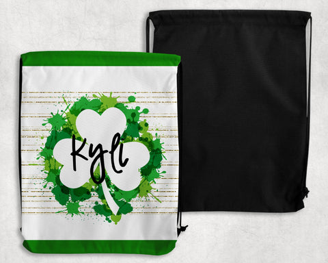 Irish Paint Personalized Drawstring Bags