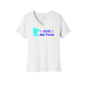 Lake Hair Don't Care Minnesota V-Neck T-Shirt