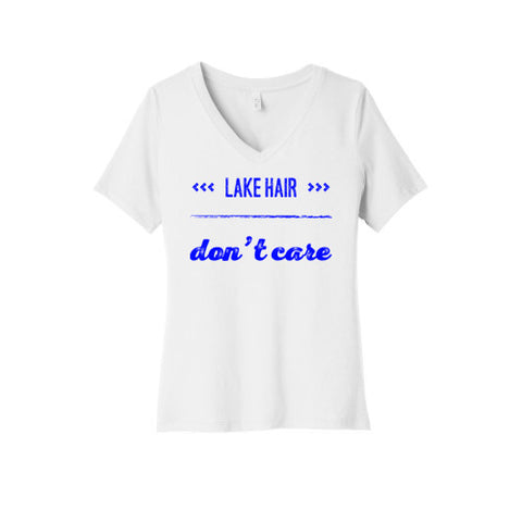 Lake Hair Don't Care V-Neck T-Shirt