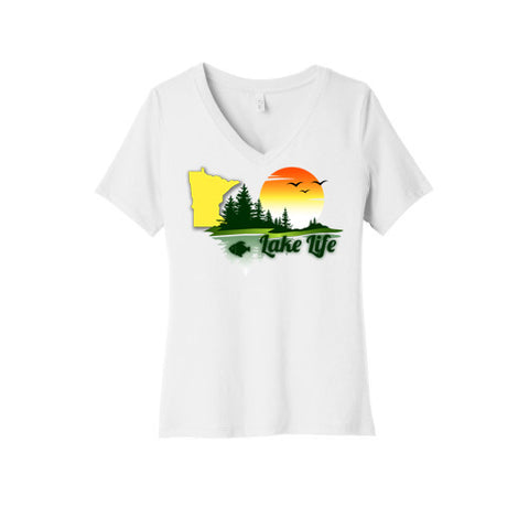 Lake Life Minnesota V-Neck T-Shirt