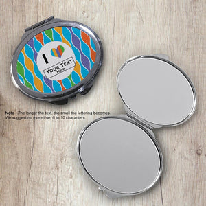 Rainbow Bead Oval Compact Mirror