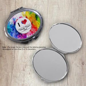 Watercolor Splash Oval Compact Mirror