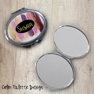 Color Palette Oval Compact Mirror