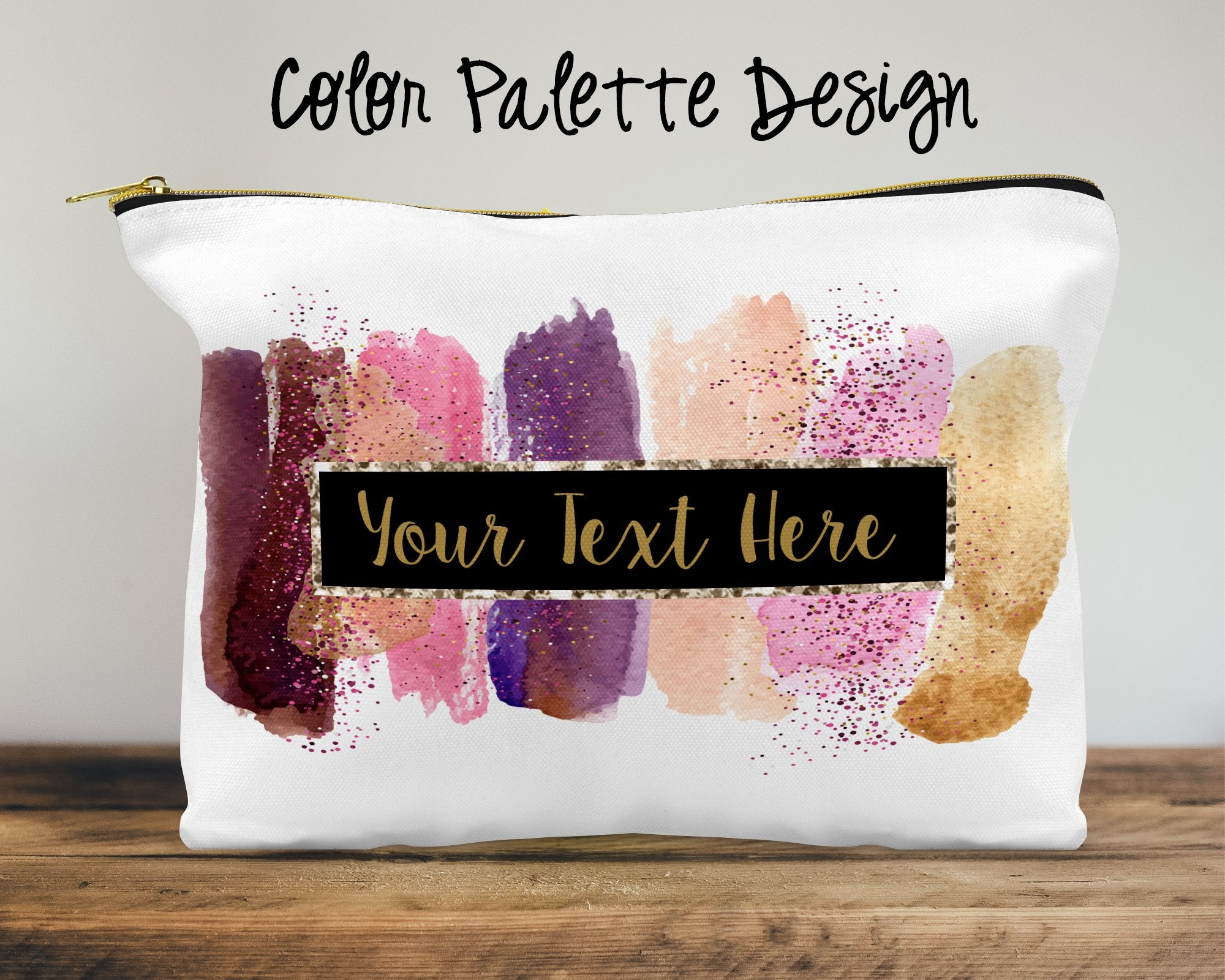 Color Palette Custom Cosmetic Bag