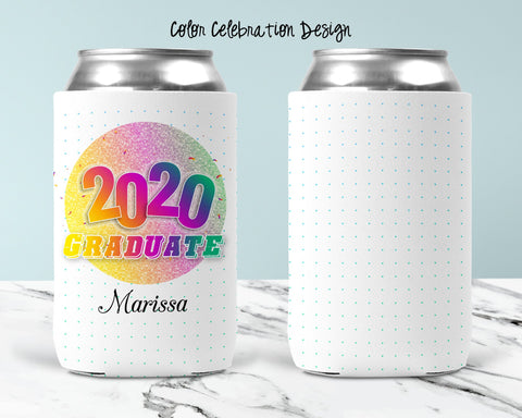 Color Celebration Personalized Can Cooler