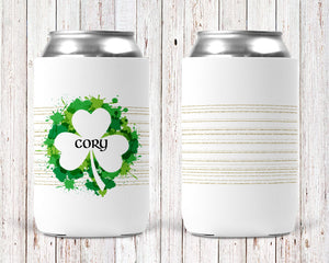 Irish Paint Personalized Can Cooler