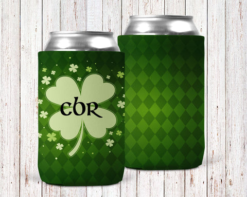 Lucky Clover Personalized Can Cooler