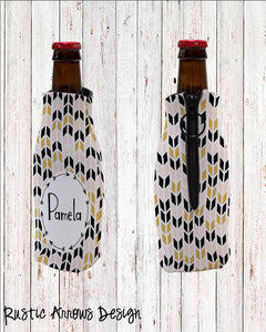 Personalized Bottle Cooler with Zipper