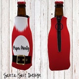 Holiday Personalized Bottle Cooler with Zipper