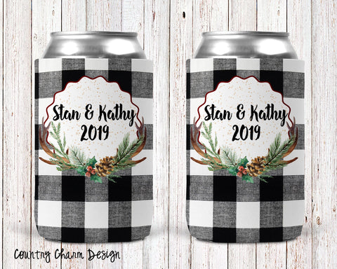 Country Charm Personalized Can Cooler
